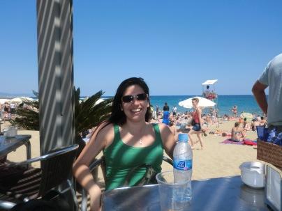 En la playa Barcelona 2012