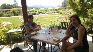Almorzando en Viña Casas del Bosque