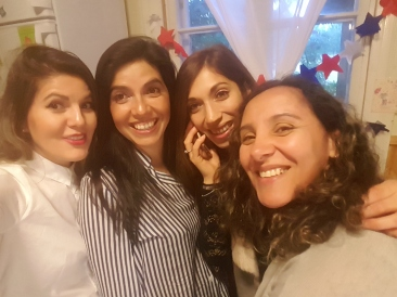 Las Chilenas Consuelo, Viviana, Juanita y Yenifer.